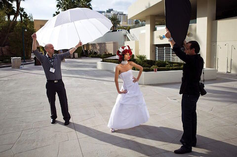 Photo Umbrellas Guide - Diffusion Parabolic BTS