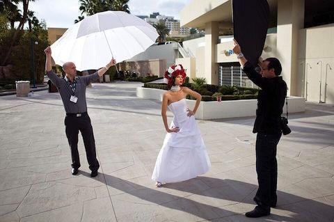 Photo Umbrellas Guide - Diffusion Parabolic BTS